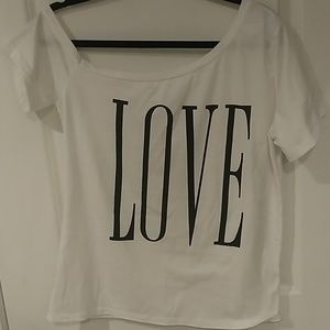"""Love"" Off Shoulder top"